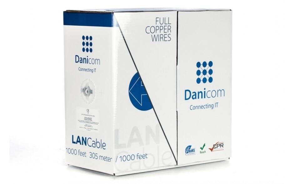 DANICOM Cat 5e Verlegekabel - 100% Kupfer