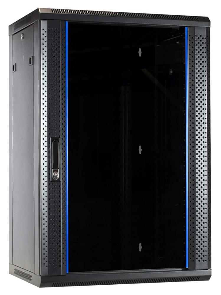 Afbeelding van 18 HE Serverschrank, Wandgehäuse, mit Glastür, nicht vormontiert (BxTxH) 600 x 450 x 1000 mm