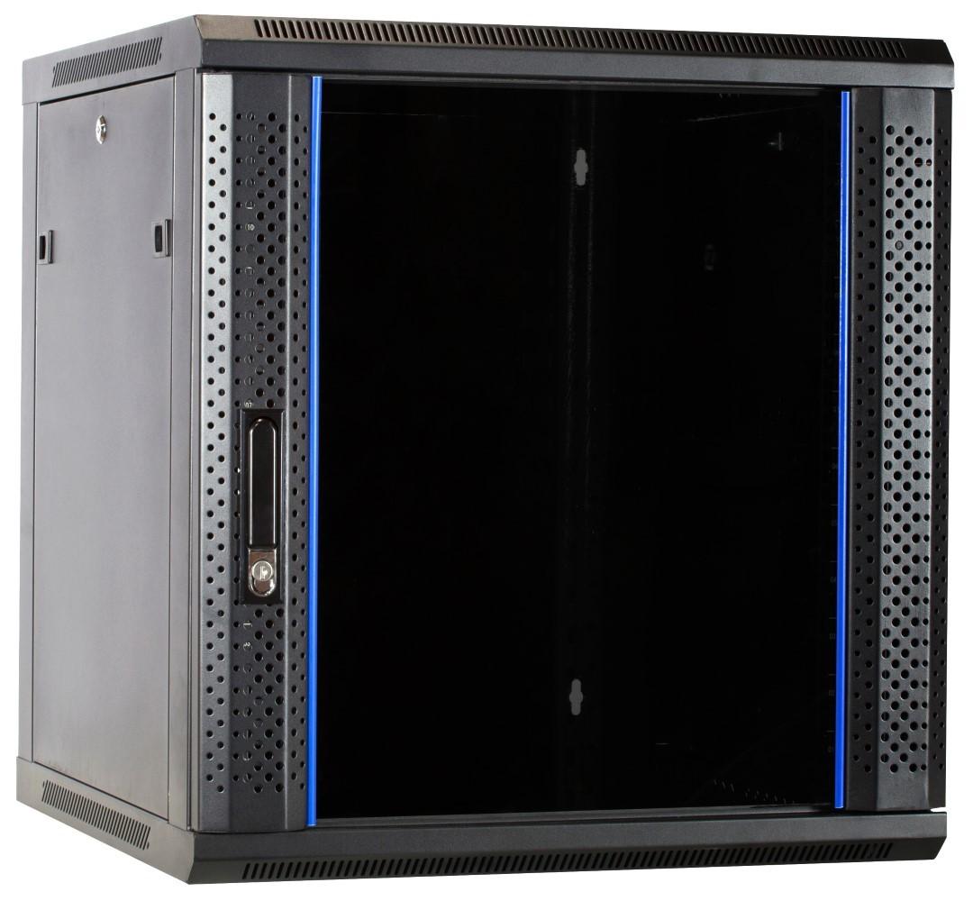 Afbeelding van 12 HE Serverschrank, Wandgehäuse mit Glastür, nicht vormontiert (BxTxH) 600 x 600 x 635mm