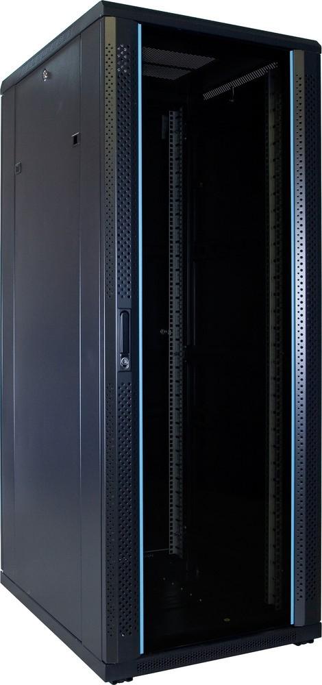 """Afbeelding van 32 HE 19"""" Serverschrank, mit Glastür, unmontiert (BxTxH) 600 x 800 x 1600mm"""