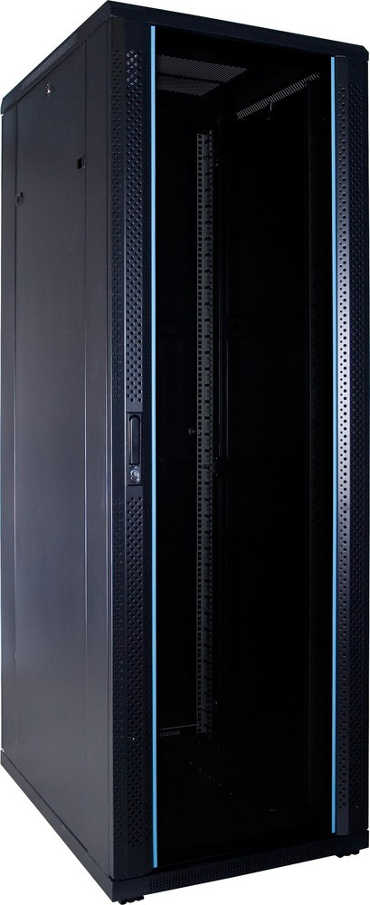 """Afbeelding van 37 HE 19"""" Serverschrank, mit Glastür, unmontiert (BxTxH) 600 x 800 x 1800mm"""