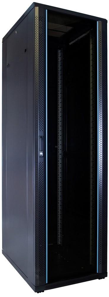 """Afbeelding van 42 HE 19"""" Serverschrank, mit Glastür, unmontiert (BxTxH) 600 x 800 x 2000mm"""