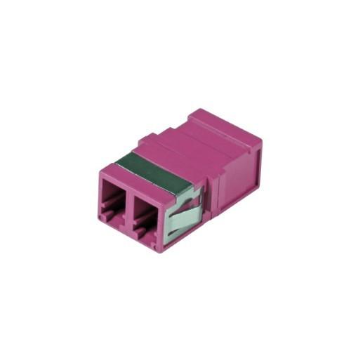 Afbeelding van Multimode Keystone Kupplung LC-LC duplex lila