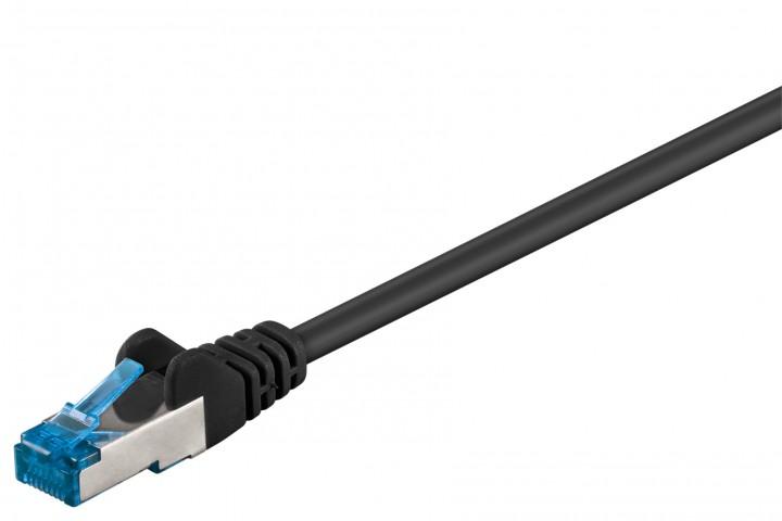 Afbeelding van CAT 6a Netzwerkkabel LSOH - S/FTP - 0,25 Meter - Schwarz