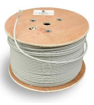 CAT 7 Belden Kabel - 4x2xAWG 24/1 - Starrleiter - 100% Kupfer - STP - 500 Meter - Grau