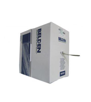 CAT 5e Belden Kabel LSOH - 4X2XAWG 24/1 - Starrleiter - 100% Kupfer - U/UTP - 305 Meter – Grau
