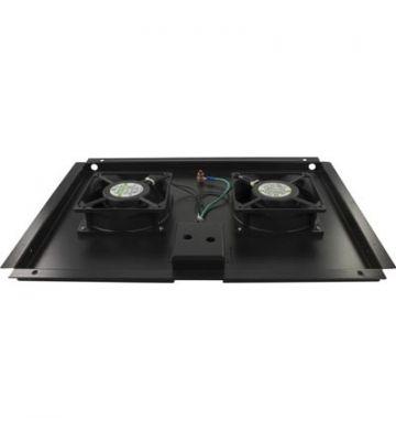 Lüftereinheit - Ventilator Paket mit 2 Ventilatoren geeignet für Serverschränke mit einer Tiefe von 600mm.
