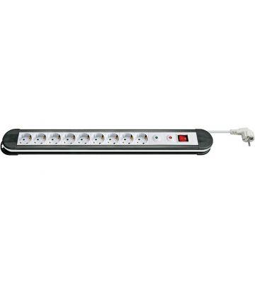 Steckdosenleiste mit Überspannungsschutz - 9x Schutzkontakt - Weiß - 1,5 Meter