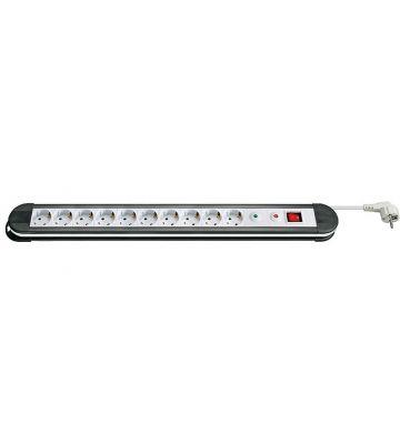 Steckdosenleiste mit Überspannungsschutz - 10x Schutzkontakt - Weiß - 1,5 Meter