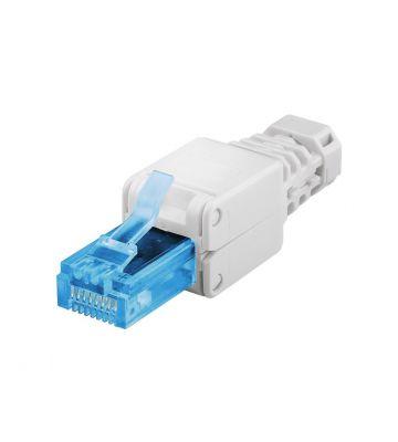 UTP CAT6a Toolless RJ45 Netzwerkstecker - für massive und flexibele UTP Kabel