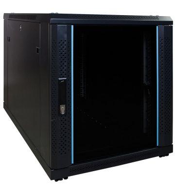 12 HE, kleiner Serverschrank, mit Glastür (BxTxH) 600 x 1000 x 720 mm