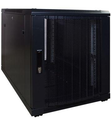 12 HE, kleiner Serverschrank, mit perforierter Fronttür (BxTxH) 600 x 1000 x 720 mm