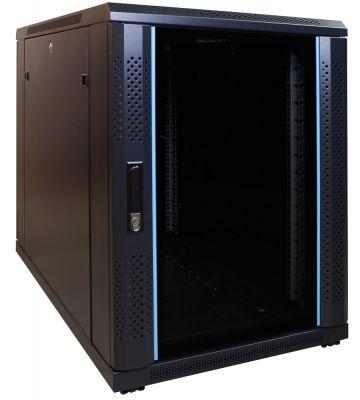 15 HE, kleiner Serverschrank, mit Glastür (BxTxH) 600 x 1000 x 860 mm