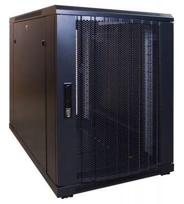 15 HE, kleiner Serverschrank, mit perforierter Fronttür (BxTxH) 600 x 1000 x 860 mm