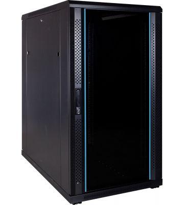 "22 HE 19"" Serverschrank, mit Glastür (BxTxH) 600 x 1000 x 1200mm"
