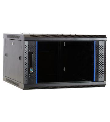 6 HE Serverschrank, Wandgehäuse, mit Glastür (BxTxH) 600 x 600 x 368mm