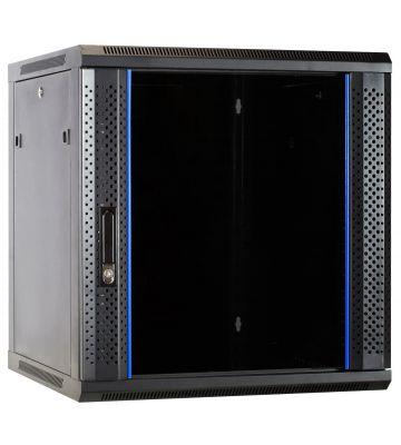 12 HE Serverschrank, Wandgehäuse mit Glastür (BxTxH) 600 x 600 x 635mm