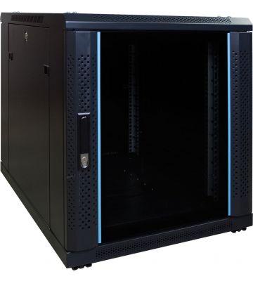 12 HE, kleiner Serverschrank, mit Glastür (BxTxH) 600 x 600 x 720 mm