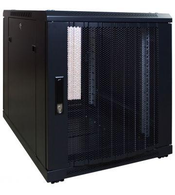 12 HE, kleiner Serverschrank, mit perforierter Fronttür (BxTxH) 600 x 800 x 720 mm
