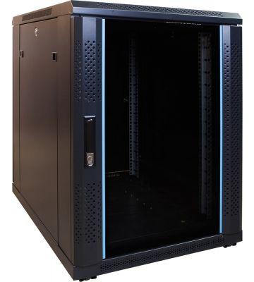 15 HE, kleiner Serverschrank, mit Glastür (BxTxH) 600 x 600 x 860 mm