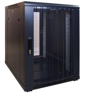 15 HE, kleiner Serverschrank, mit perforierter Fronttür (BxTxH) 600 x 600 x 860 mm