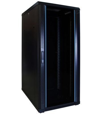 "27 HE 19"" Serverschrank, mit Glastür (BxTxH) 600 x 800 x 1400mm"