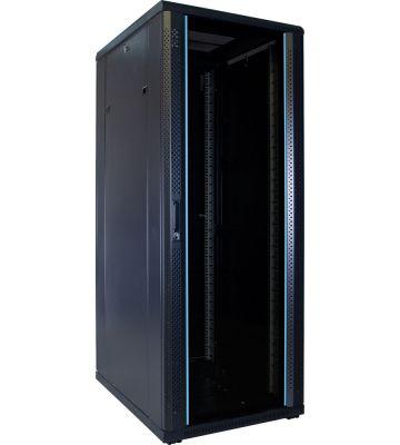 "32 HE 19"" Serverschrank, mit Glastür (BxTxH) 600 x 800 x 1600mm"