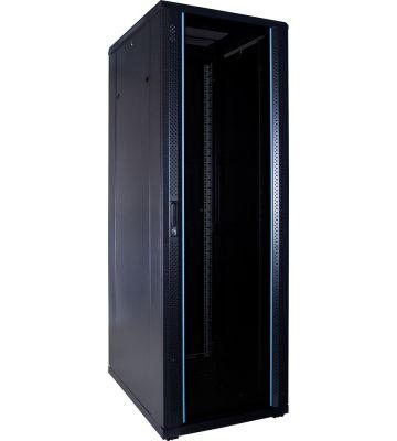 """37 HE 19"""" Serverschrank, mit Glastür, unmontiert (BxTxH) 600 x 800 x 1800mm"""