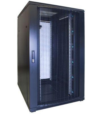 "27 HE 19"" Serverschrank, mit perforierter Fronttür (BxTxH) 800 x 1000 x 1400mm"