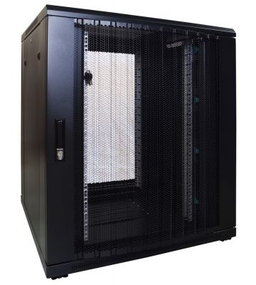"18 HE 19"" Serverschrank, mit perforierter Fronttür (BxTxH) 800 x 800 x 1000mm"