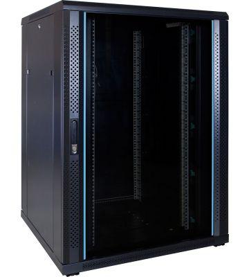 "22 HE 19"" Serverschrank, mit Glastür (BxTxH) 800 x 800 x 1200mm"