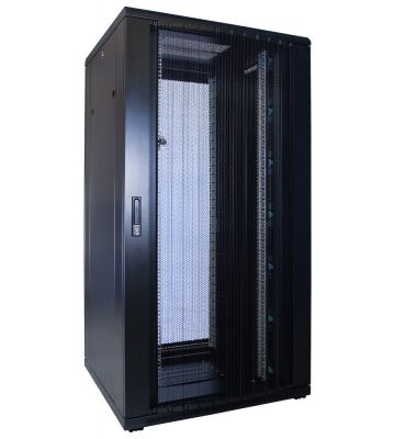 "32 HE 19"" Serverschrank, mit perforierter Fronttür (BxTxH) 800 x 800 x 1600mm"