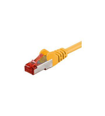 CAT 6 Netzwerkkabel LSOH - S/FTP - 0,25 Meter - Gelb