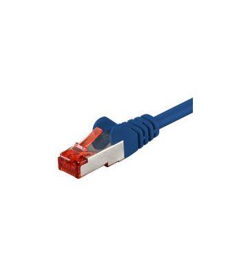 CAT 6 Netzwerkkabel LSOH - S/FTP - 0,25 Meter - Blau