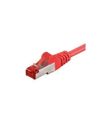 CAT 6 Netzwerkkabel LSOH - S/FTP - 0,25 Meter - Rot
