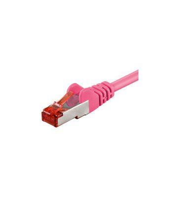 CAT 6 Netzwerkkabel LSOH - S/FTP - 0,25 Meter - Rosa