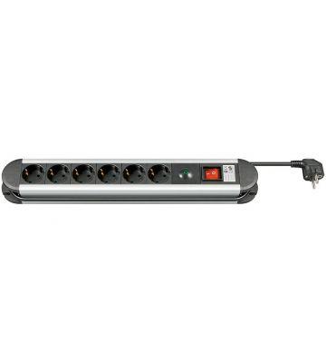 Steckdosenleiste mit Überspannungsschutz - 6x Schutzkontakt - Schwarz - 1,5 Meter