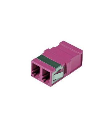 Multimode Keystone Kupplung LC-LC duplex lila