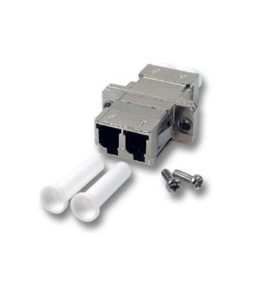 Multimode Kupplung LC-LC duplex mit Metallhülse