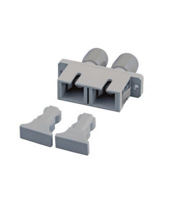 Multimode Kupplung SC-ST duplex grau
