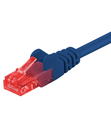 CAT 6 Netzwerkkabel U/UTP - 0,25 Meter - Blau - CCA