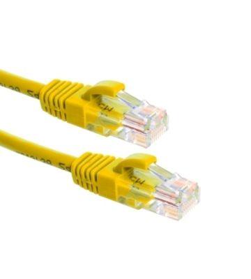 CAT6a Netzwerkkabel 100% Kupfer - U/UTP - 0,50 Meter - Gelb