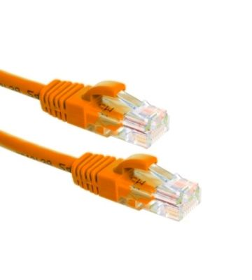 CAT6a Netzwerkkabel 100% Kupfer - U/UTP - 1 Meter - Orange