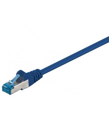 CAT 6a Netzwerkkabel LSOH - S/FTP - 15 Meter - Blau