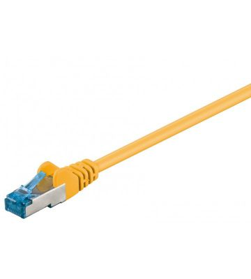 CAT 6a Netzwerkkabel LSOH - S/FTP - 0,50 Meter - Gelb