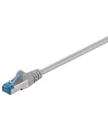 CAT 6a Netzwerkkabel LSOH - S/FTP - 0,25 Meter - Grau