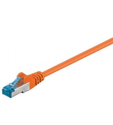 CAT 6a Netzwerkkabel LSOH - S/FTP - 0,50 Meter - Orange