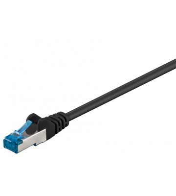CAT 6a Netzwerkkabel LSOH - S/FTP - 50 Meter - Schwarz