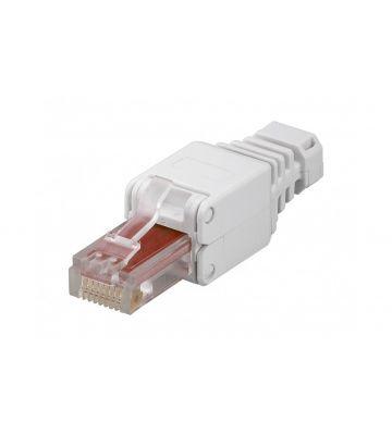 UTP CAT6 Toolless RJ45 Netzwerkstecker - für massive und flexibele UTP Kabel