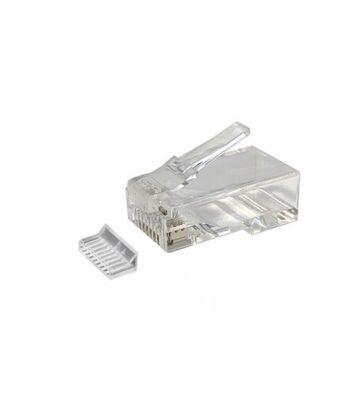 RJ45 CAT 6 Netzwerkstecker + Hilfstück – ungeschirmt - für flexible Kabel